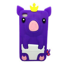 Lovely Cute Pig Silicone Soft Rubber Cover Back Case for Various Mobile Phone