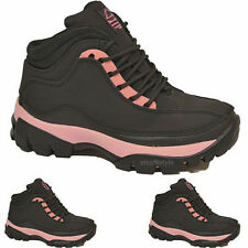 LADIES GROUNDWORK SAFETY STEEL TOE CAP BOOTS WORK TRAINERS ANKLE HIGH SHOES