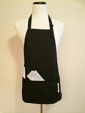 New Commercial Bib Apron 3-Pocket  Adjustable Strap 8oz Poly/Cotton Size Upto 60