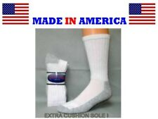 Women men cotton cushioned steel toe work sock size 9-11 shoe 4-8 gift idea her