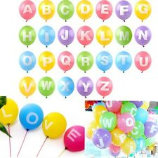 "12"" Latex Helium Balloon Letter A - Z Full Alphabet Party Wedding Decoration"