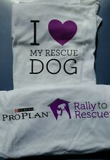 LOVE MY RESCUE DOG SHORT SLEEVE T-SHIRT PURINA PROPLAN (SEE SIZES) NEW ON SALE