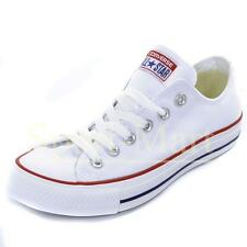 Mens, Womens Converse All Star Low White Canvas Pumps Trainers Mens Size