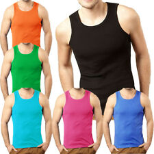 Mens Soulstar Fresh Ribbed Slim Fit Vest Top Mens Size