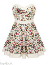 SEXY FLORAL SWEETHEART EVENING COCKTAIL PARTY MINI PROM SUMMER DAY DRESS