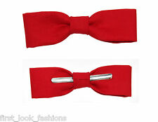 Skinny / Thin Ruby Red Clip On Bow Tie Bow tie Men / Boys