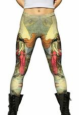 "Yizzam - Goble - ""Viking And Damsel Pink Dress""- New Ladies Womens Leggings"