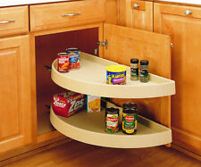 "31"" Half Moon 2 Shelf Set- Pivot & Slide Lazy Susan Rev-A-Shelf 6882-31-570"