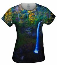 Yizzam- West Virginia Fall Foliage Forest Autumn Waterfall - New Ladies Top Wom