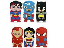 3D Cute Comics Cartoon Super Hero Soft Case For iPod Touch 4 4th