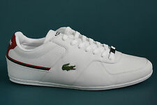 Men's Lacoste Taloire Sport SPM Leather White/Dark Red Style# 7-27SPM10931Y8