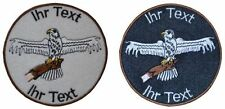 falcon hawk falconer patch with your text 8cm embroidered logo (505-1)