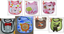 Baby Towel Saliva Waterproof New Kids Cartoon Pattern 3 Layer Toddler Lunch Bibs