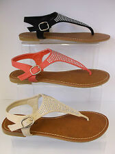 Ladies Toe Post Sandals UK3-8 F0682
