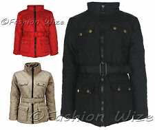 GIrls Padded Jacket Coat Quilted Jacket Top Warm Winter Age 7 8 9 10 11 12 13
