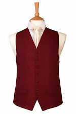 MENS AND PAGE BOYS BURGUNDY WINE VERONA WEDDING DRESS SUIT WAISTCOAT ALL SIZES
