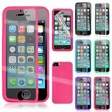 TPU Case Wrap Up Phone Cover With Built in Screen Protector For iPhone 5 5S