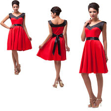 Womens 50s 60s Vintage Retro Swing Rockabilly pinup Dress Evening Prom Cocktail