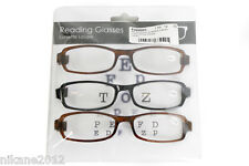 reading glasses 1.50 2.00 2.50 3.00 3.50 spectacles black brown  12 pairs new