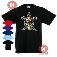 Pirate skull dagger design Childrens Kids t-shirt 3-13 years print not transfer