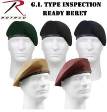 G.I. Type Military Army Inspection Ready No Flash Wool Beret 4939 4929 4949 4959