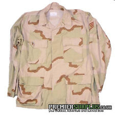 Genuine US Army Tricolour DCU Desert Camo Shirt Jacket
