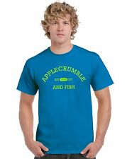Applecrumble & Fish parody t-shirt funny slogan 9 colours up to 5 XL huge