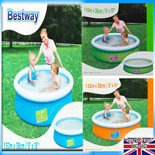 Baby Toddler Kids Childs Paddling Pool 2 Ring Small 56cm Inflatable Swimming toy