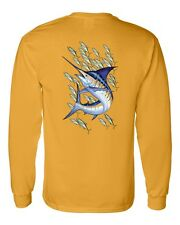 Marlin With Bait Fish Offshore Trolling Long Sleeve T Shirt