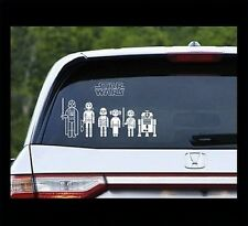 Star Wars Family Car Decals - Build Your Own Family! Fast Shipping!