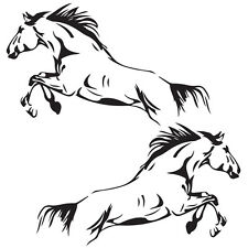 Horse Jumping (2 of) - 570 x343mm each Horsefloat, Horse Truck, Ute Car Decal