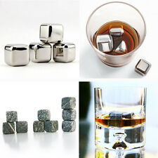 Health Stainless Steel Whiskey Stones Ice Cubes Soapstone Chillers Freezer 2Type