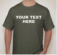 Personalized Custom T-Shirt New L, XL, 2X, 3X Create your own text design TEE #2