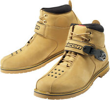 ICON SUPER DUTY 4 MOTORCYCLE RIDING BOOTS STREET WHEAT MENS NEW US SIZES 7-14