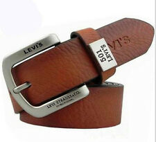 34mm Wide Men's Accessory Belt Lasting 100% Genuine Leather 105-125cm Long