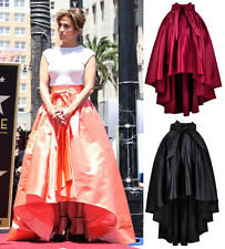 High-Low Full Prom Maxi Skirt Satin Bow Hi-lo Jennifer Lopez Marion Cotillard