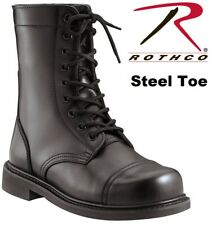 Steel Toe Boots Military Style Leather Steel Toe Combat Boots 5092
