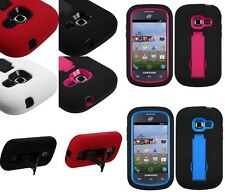 Samsung Centura Galaxy Discover Impact Kick Stand Tough Cell Phone Case Cover
