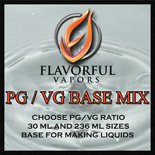 Flavorful Vapors PG VG PG/VG Base Mix Eliquid E Liquid Ejuice E Juice 236 ml 8oz