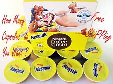 Dolce Gusto Nesquik Hot Chocolate Capsules by Nestle - Source of Calcium Pods