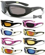 Choppers Riding Biker Extreme Sports Motorcycle Padded Sunglasses