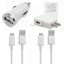 USB Home Wall Car Charger Data Sync Cable For SAMSUNG Galaxy S4 S3 Note 2 II