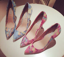 Womens Fashion Graffiti Pointy Toe Pumps Party Court Wedding Heels Shoes Size 9