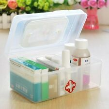 NEW Portable Transparent  First Aid Box 3 Grids Medicine First Aid Chest HY23549