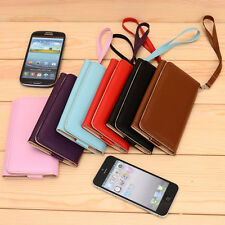 Slim Bicast Leather Universal WristLet Clutch Case for Huawei Mobile Phone