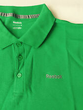 Reebok Mens Polo Shirt 100% Cotton Casual Sport Top Size M Green New