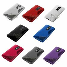 Gel Rubber TPU Silicone Case Skin Cover for LG G2 D800 AT&T +Screen Protector