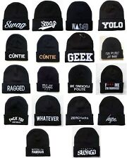 New Men's SWAG YOLO GEEK Beanies Hip Hop Winter Acrylic knit wool caps Hats BH7