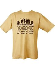 Behind Our Troops Military Army COYOTE SAND DESERT T shirt