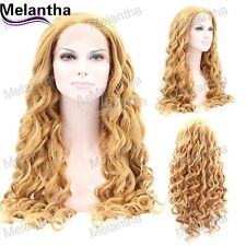 "16""-28"" Best  Front Lace Wig Synthetic Wigs Heat Friendly Melantha Hair"